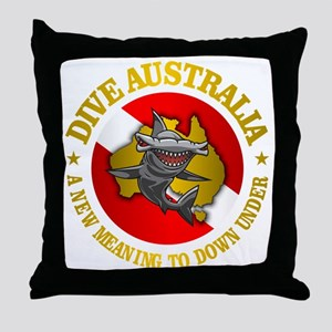 Dive Australia (hammerhead) Throw Pillow
